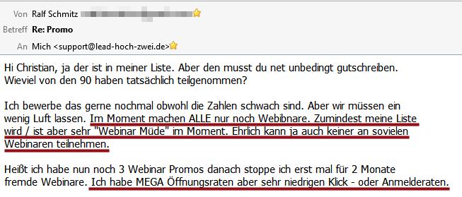 Auto-Webinar-Feedback Ralf Schmitz